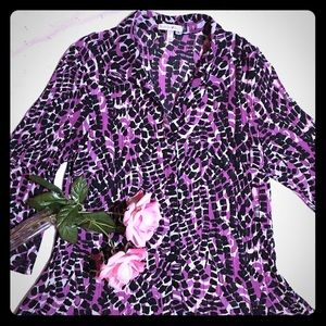 Fashion Bug 3/4 Bell Sleeve Blouse Size Large